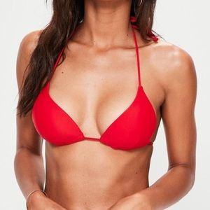 red vitamin A xs/4 triangle bikini halter tie top